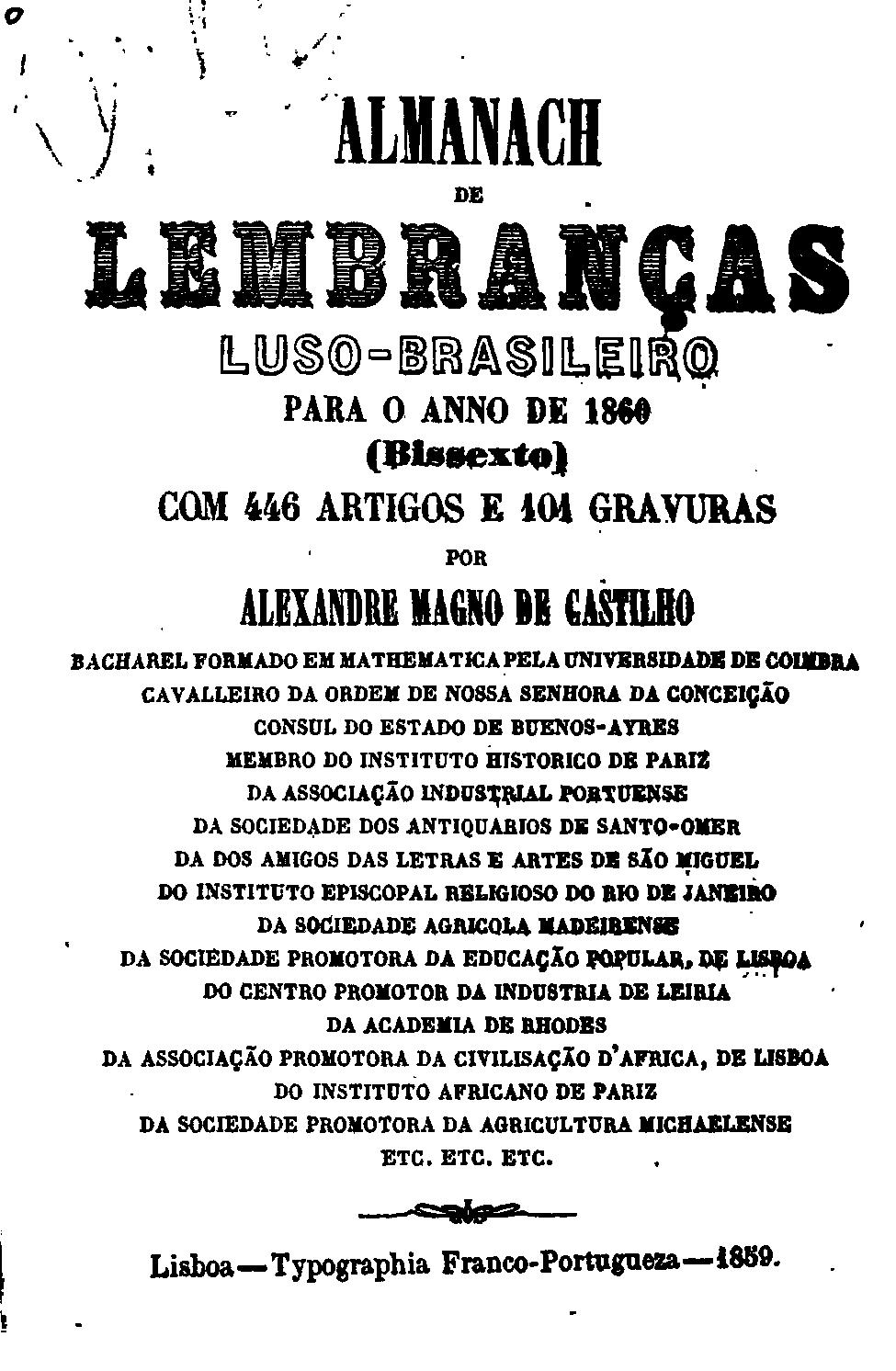 file almanaque de lembranças luso brasileiras 1860 jpg wikimedia