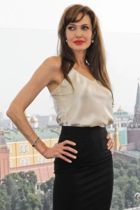 Анджелина Джоли на премьере фильма «Солт» в Москве, 25 июля 2010 года.