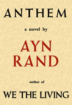 Anthem Book Cover of first edition