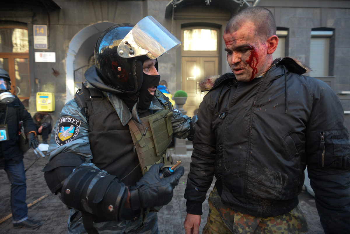 During clashes in kyiv ukraine events of february 18 2014