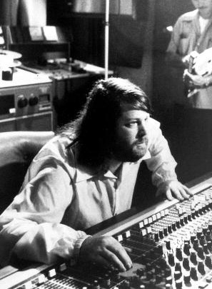 Brian Wilson at a mixing board in Brother Studios, 1976 Brian Wilson 1976 crop.jpg