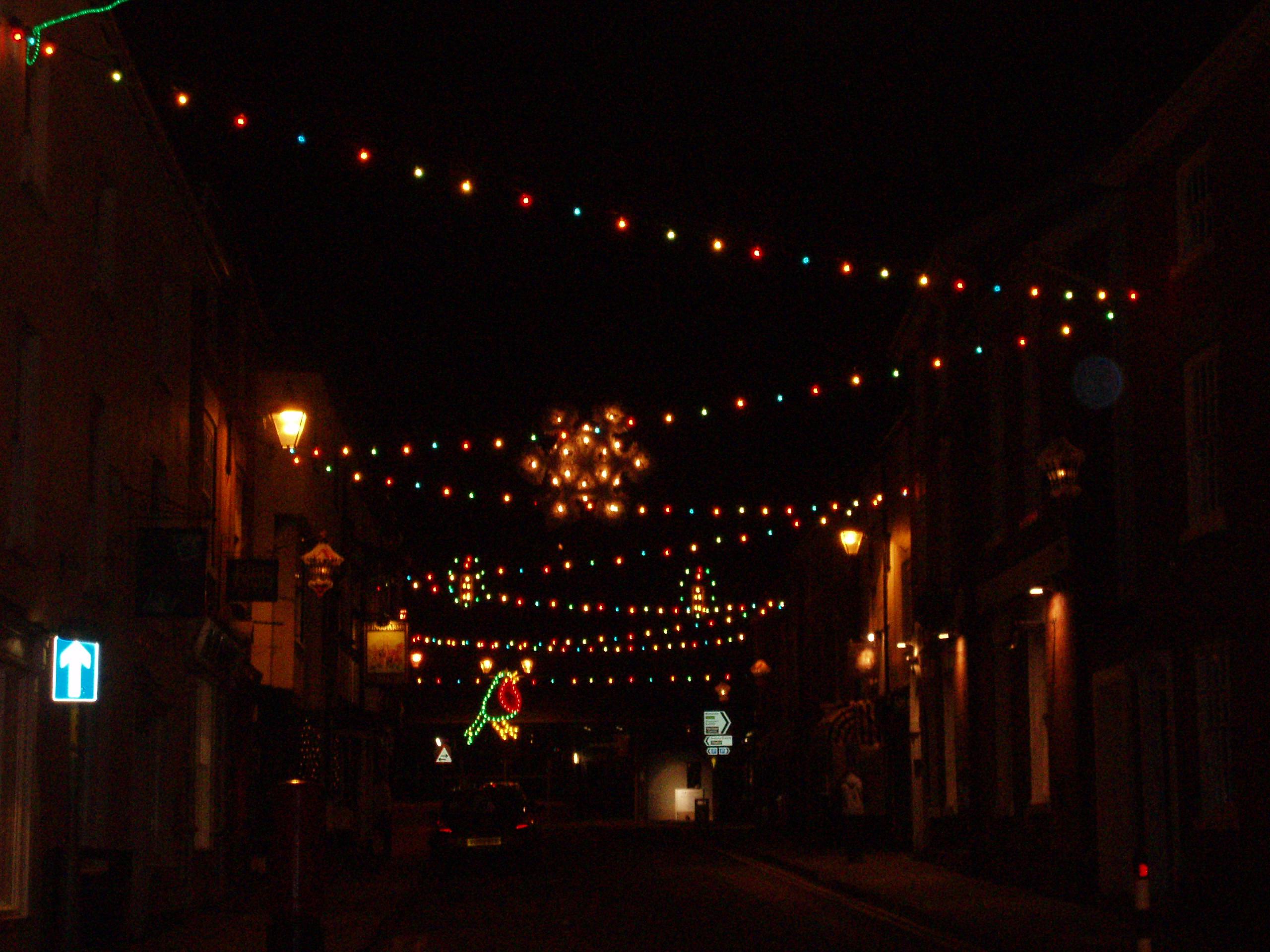 Description Bromyard Christmas Lights 2005.JPG