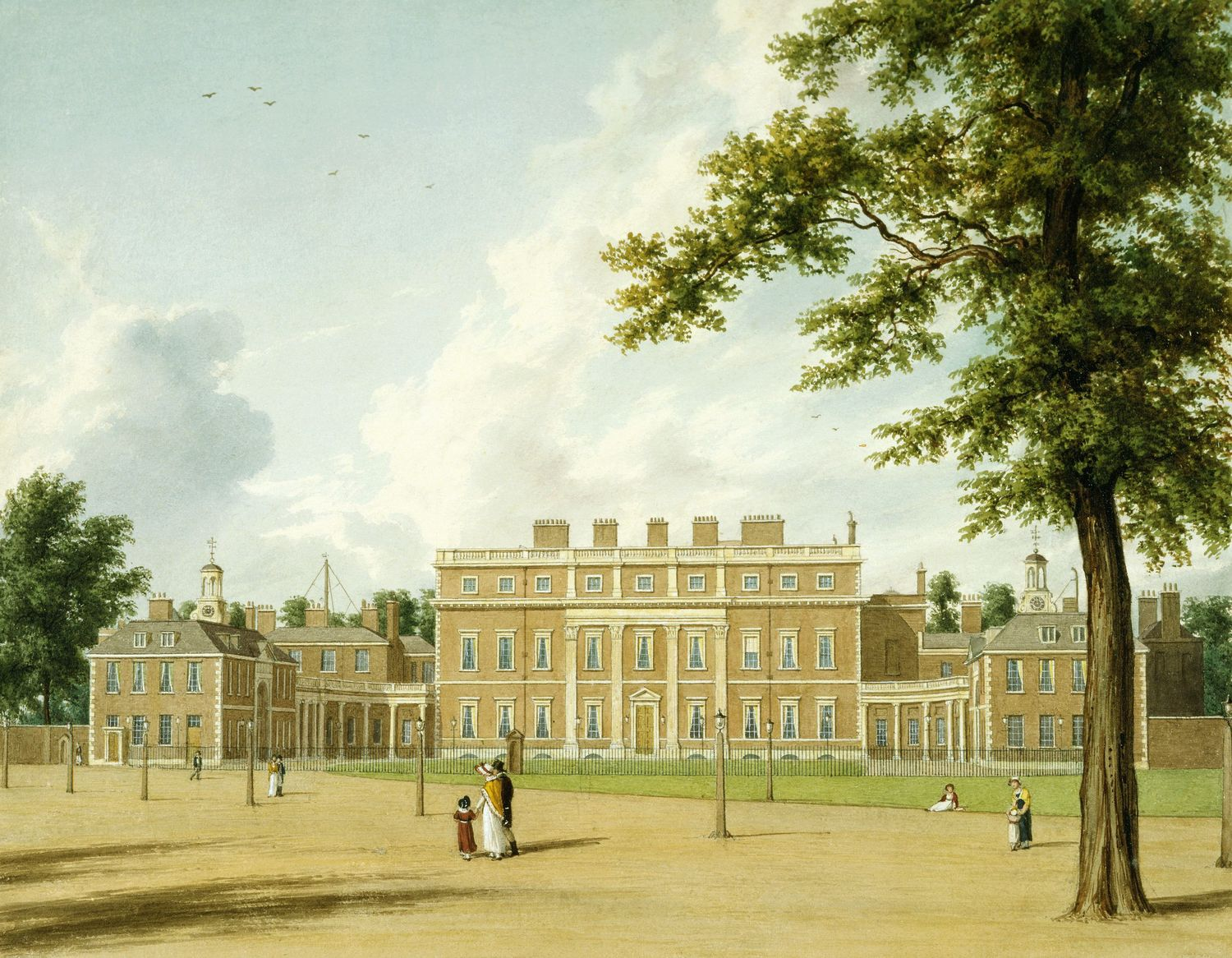 File Buckingham House East Front By William Westall 1819 Royal