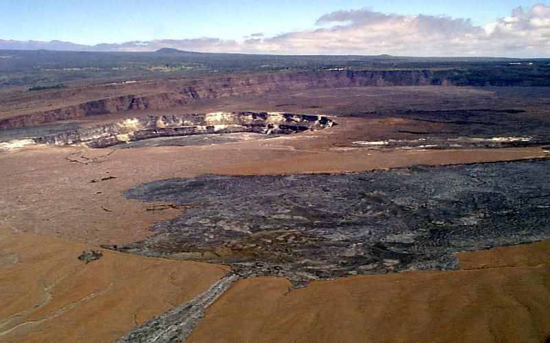 Caldera of Kilauea with Halemaumau