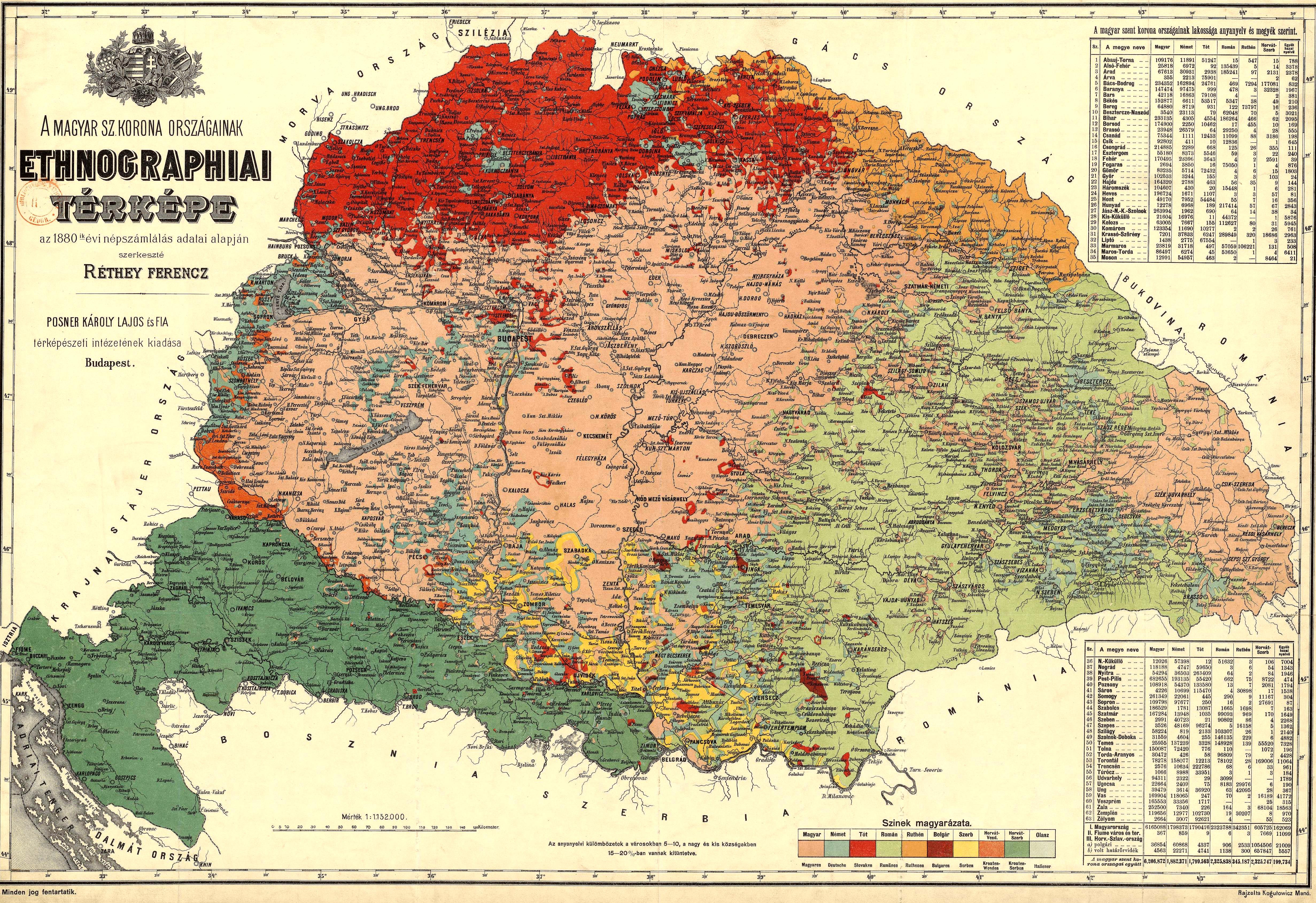 magyarország térkép 1800 as évek Magyarország nemzetiségei – Wikipédia magyarország térkép 1800 as évek