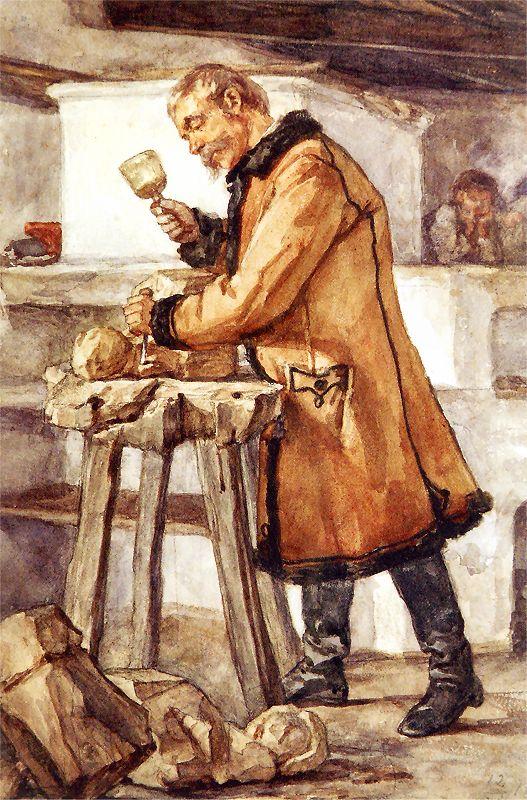 Chłopski rzeźbiarz Z cyklu Album Pałahickie. 1867. Akwarela na papierze. 23 x 32 cm. Muzeum Lubuskie w Gorzowie Wielkopolskim.jpg