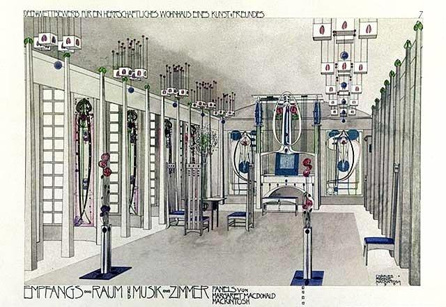 File charles rennie mackintosh music room for Apartment design wikipedia