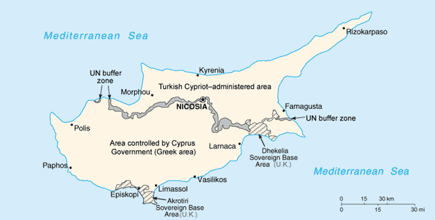 Cy map Say Hello to Cyprus