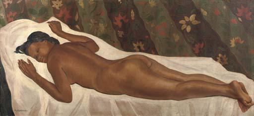 Czesław Mystkowski Reclining nude.jpeg