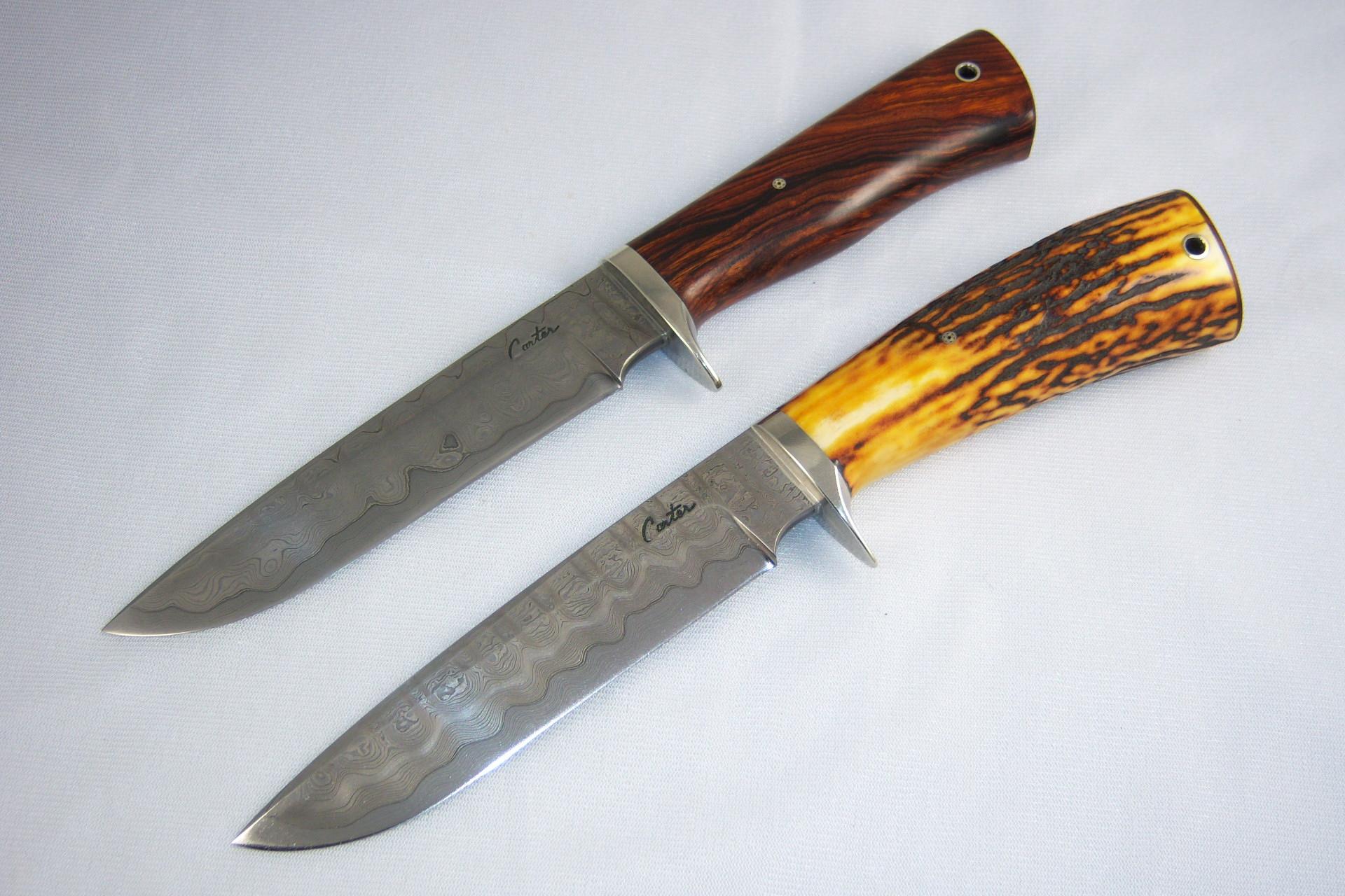 Noże ze stali damasceńskiej