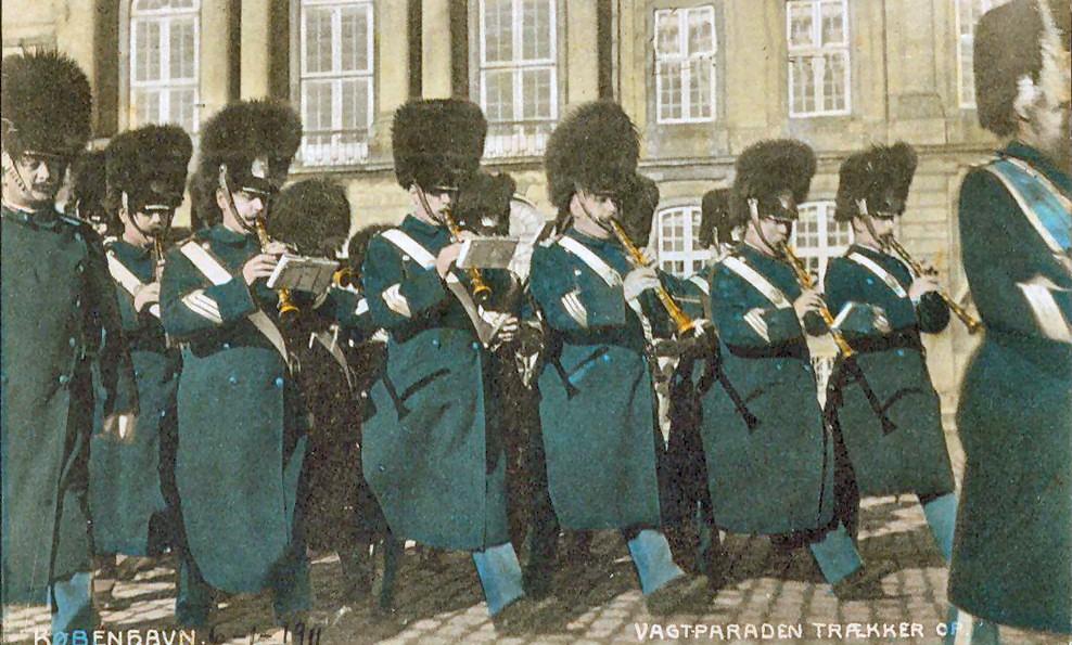 Défilé militaire à Copenhague en 1911.