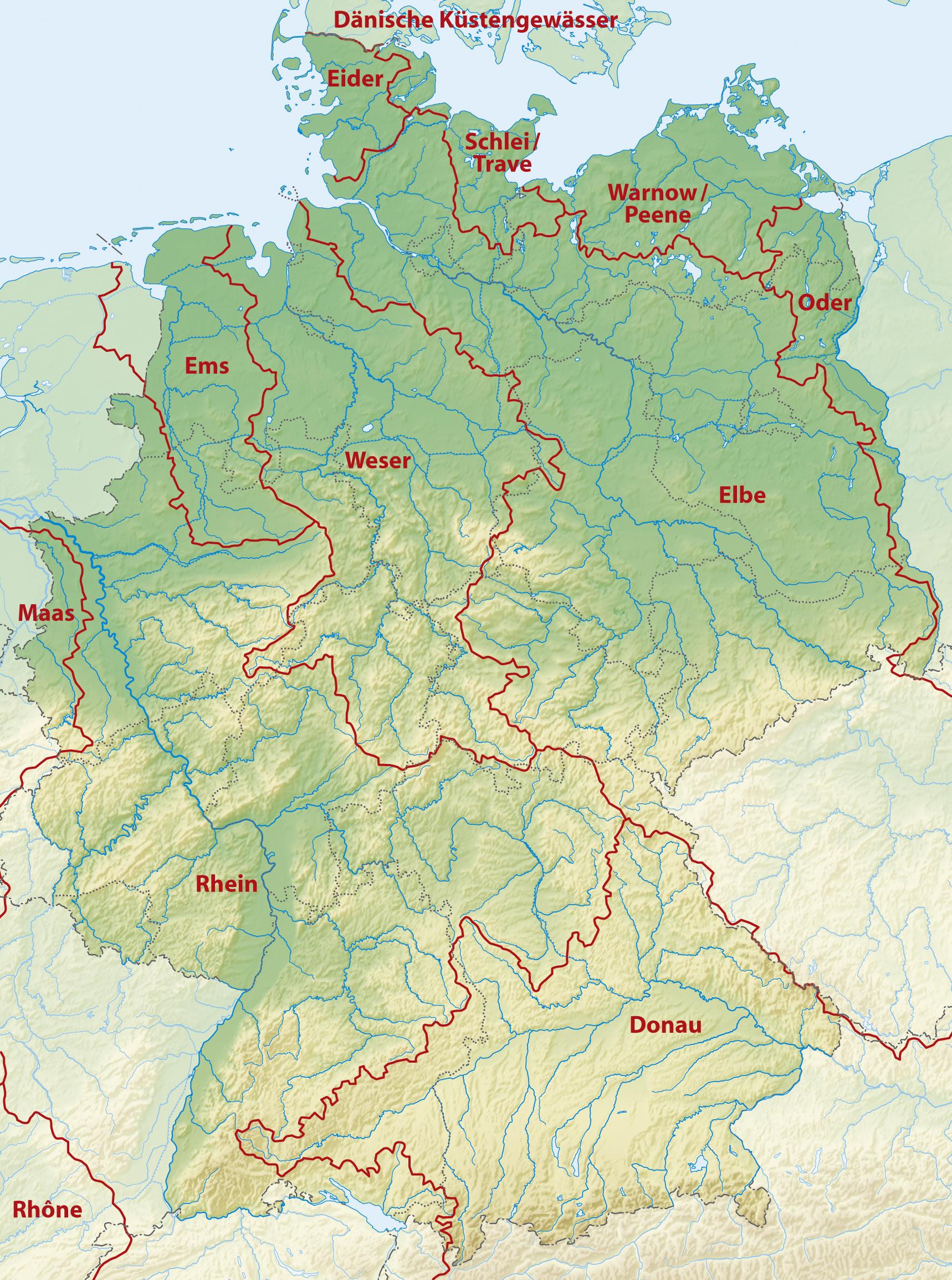 karte der flüsse in deutschland Wasserscheiden in Deutschland – Wikipedia