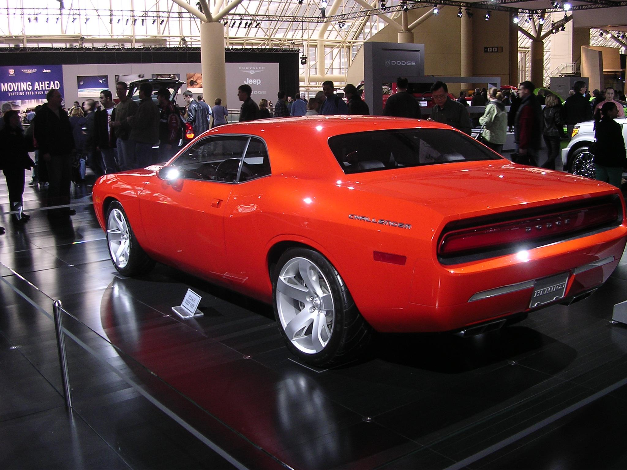 file dodge challenger concept rear wikimedia commons. Cars Review. Best American Auto & Cars Review