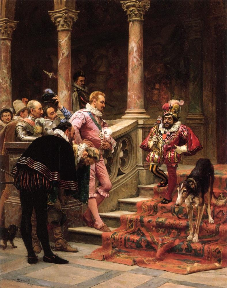 ЭДУАРДО ЗАМАКУА И ЗАБАЛА - Эль Фаворито дель Рей (Фонд семьи Френкель Колексьон, Даллас, 1865–1867 гг. Óleo sobre tabla, 56 x 45 см) .jpg