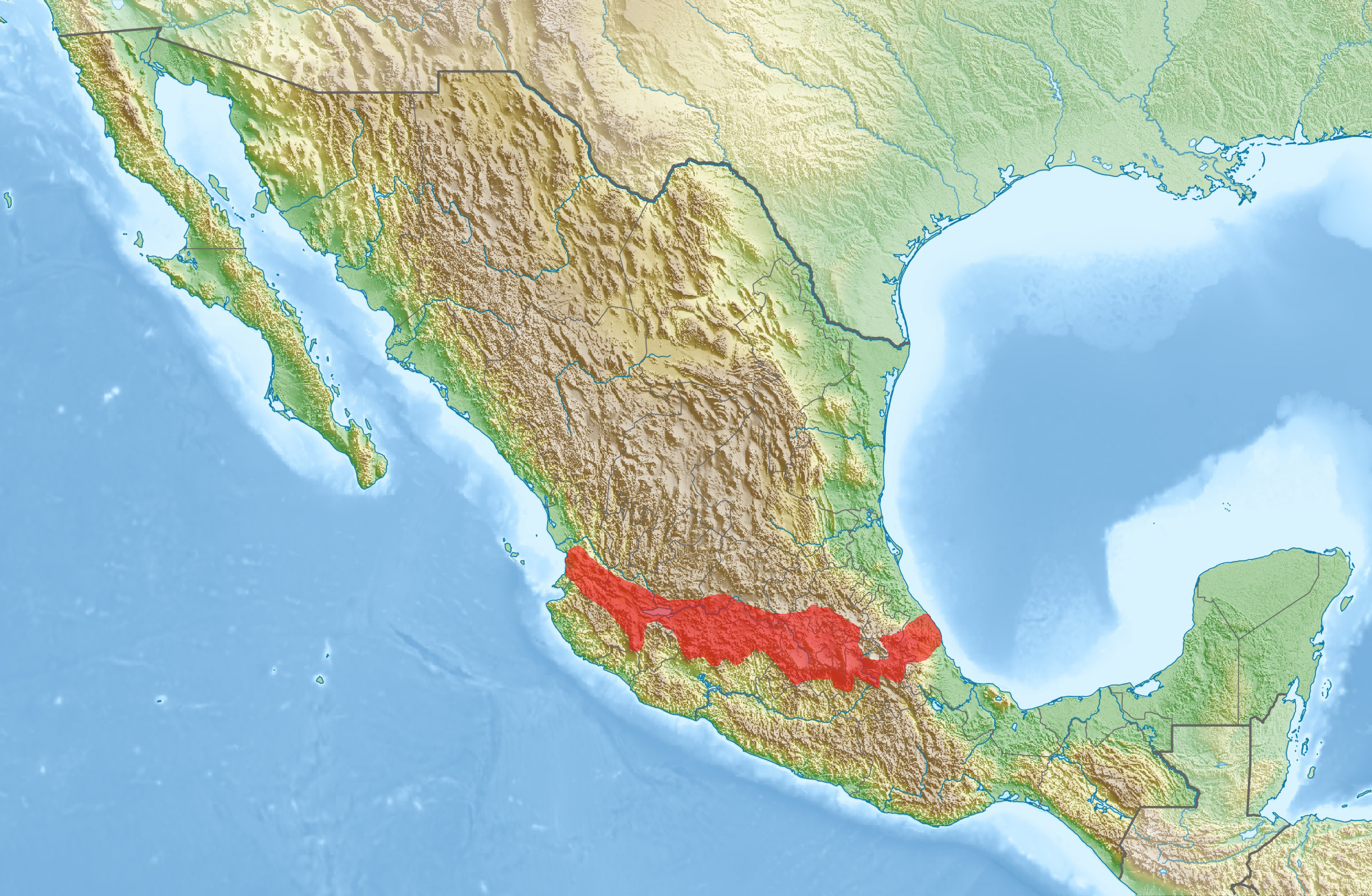 Image of: Trans Mexican Volcanic Belt Wikipedia