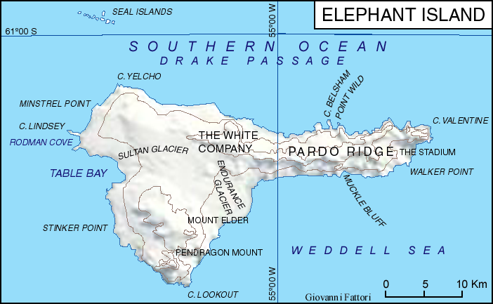 Base Map Campbell Island Png