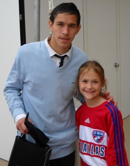Avila with a fan