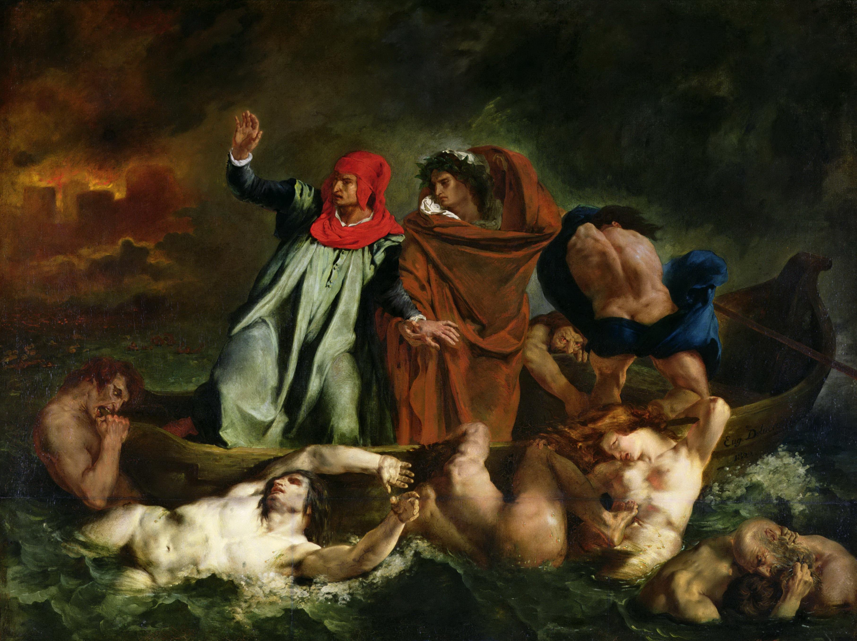 William Adolphe Bouguereau Dante Virgil In Hell Old Art Canvas Art Print