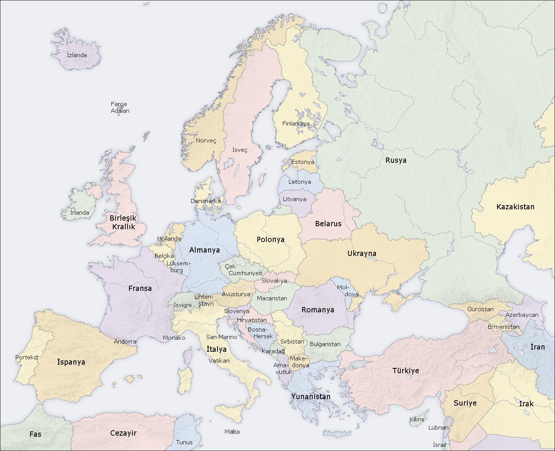 Avrupa nin coğrafyasi avrupa geleneksel olarak dünya daki 7 kıtadan