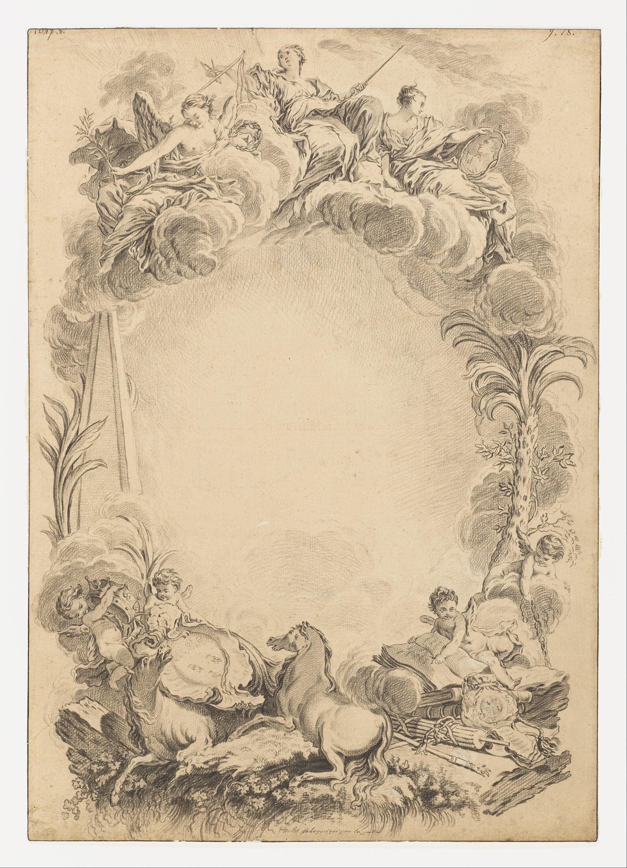 File:François Boucher - Design for an Escutcheon in Honor ...