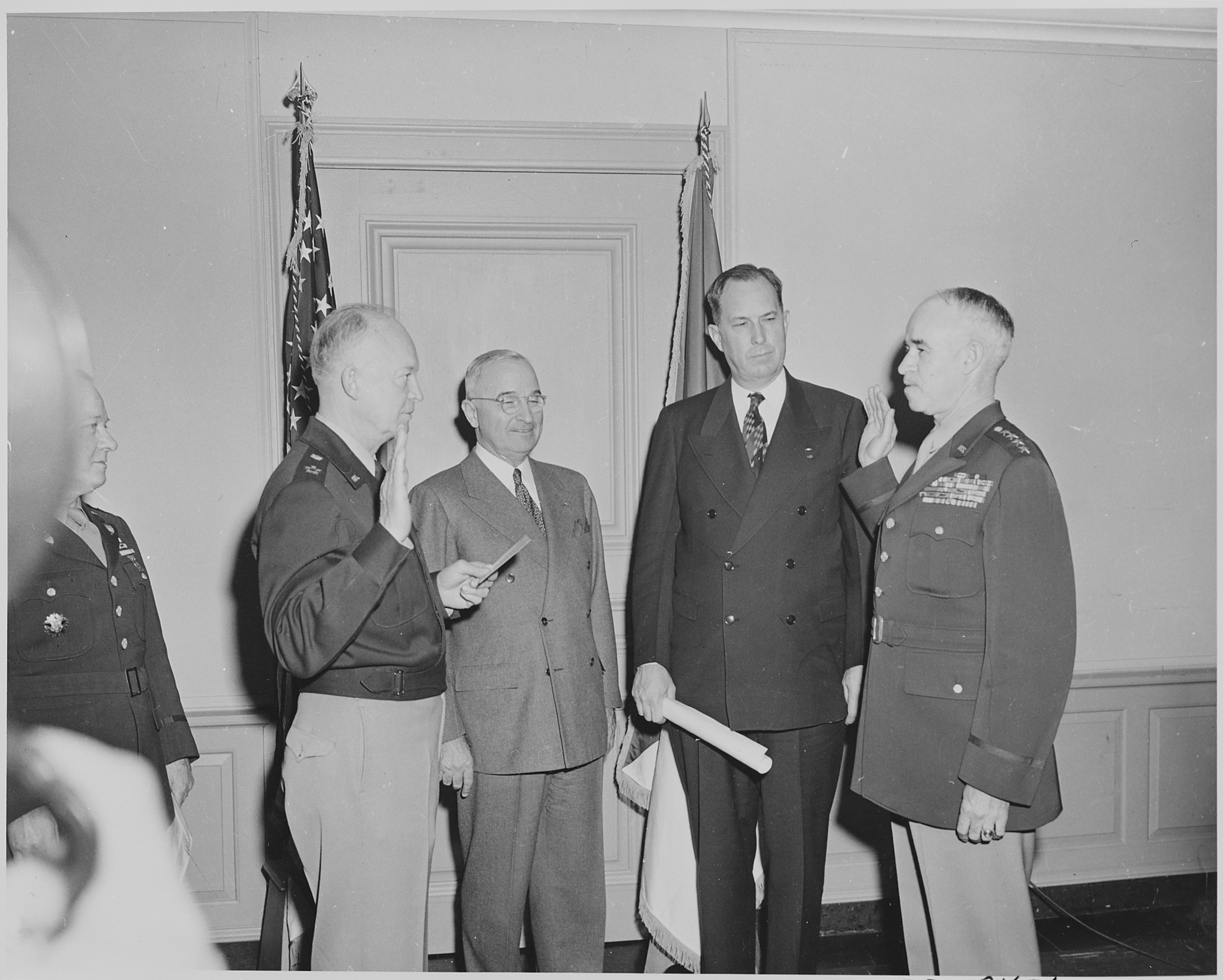 FileGen Omar Bradley right is taking the oath of office as – Oath of Office Template