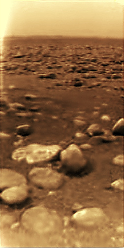 cassini-huygens first pic of titan moon
