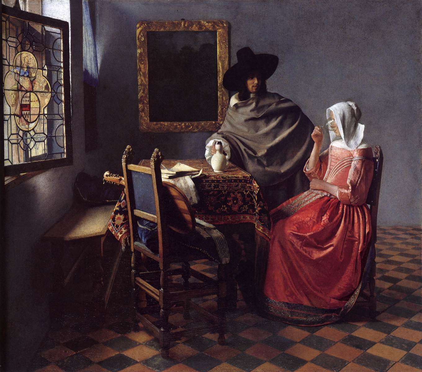 Johannes Vermeer - A Lady Drinking and a Gentleman // commons.wikimedia.org