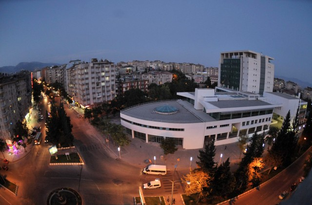 A view of the city center