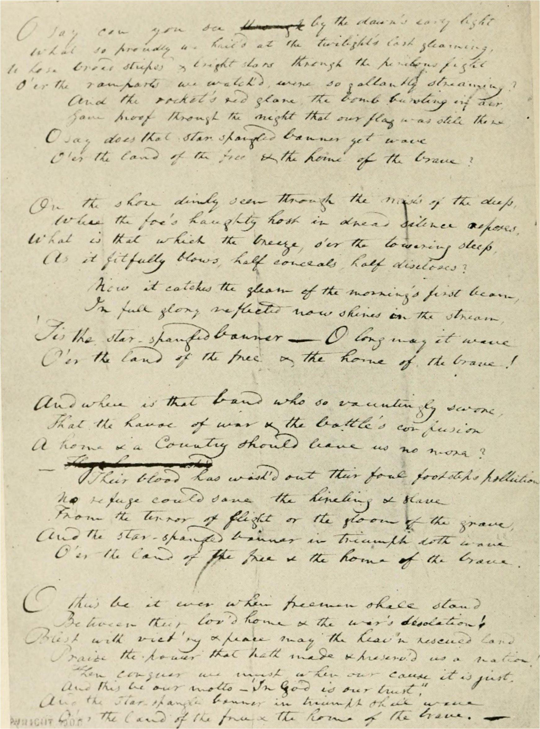 Amerikanische nationalhymne text
