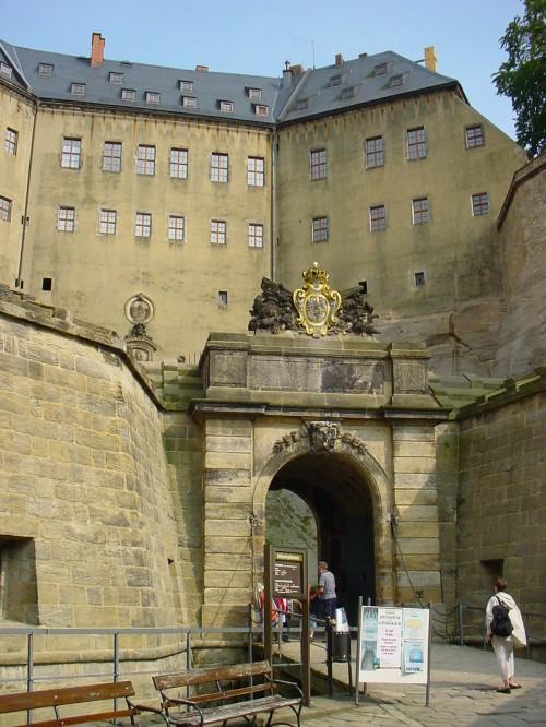 Festung Königstein - Eingang
