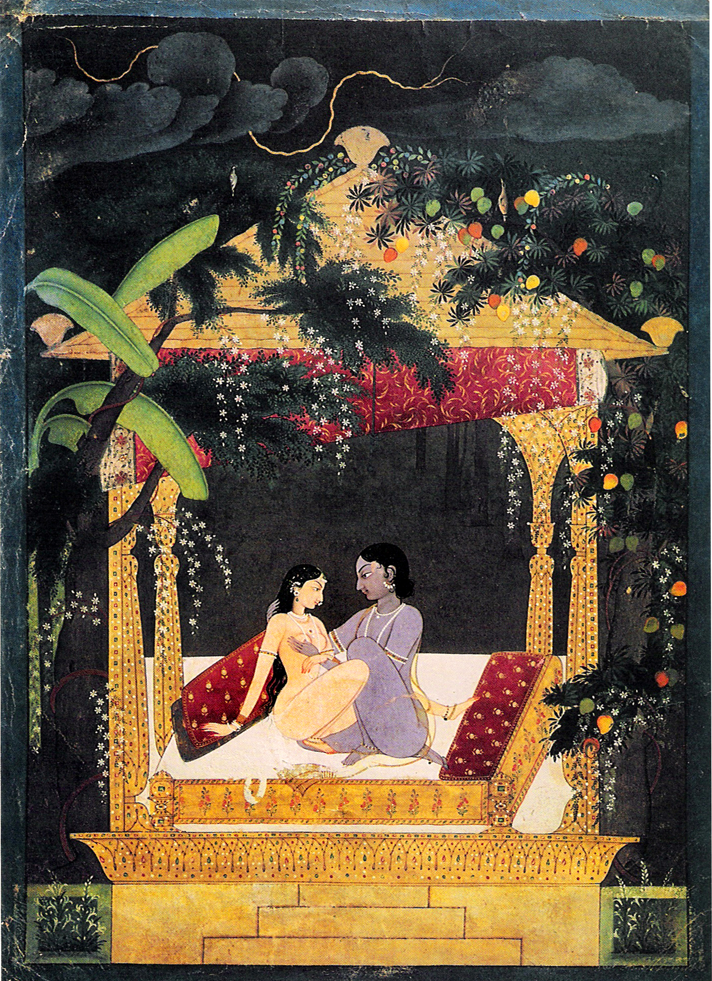 Krishna and Radha in a Pavilion - Wikiwand