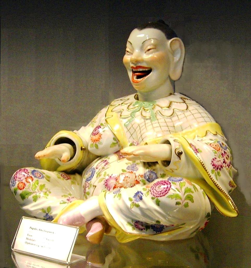 Laughing Buddha Nodder C Meissen Porcelain