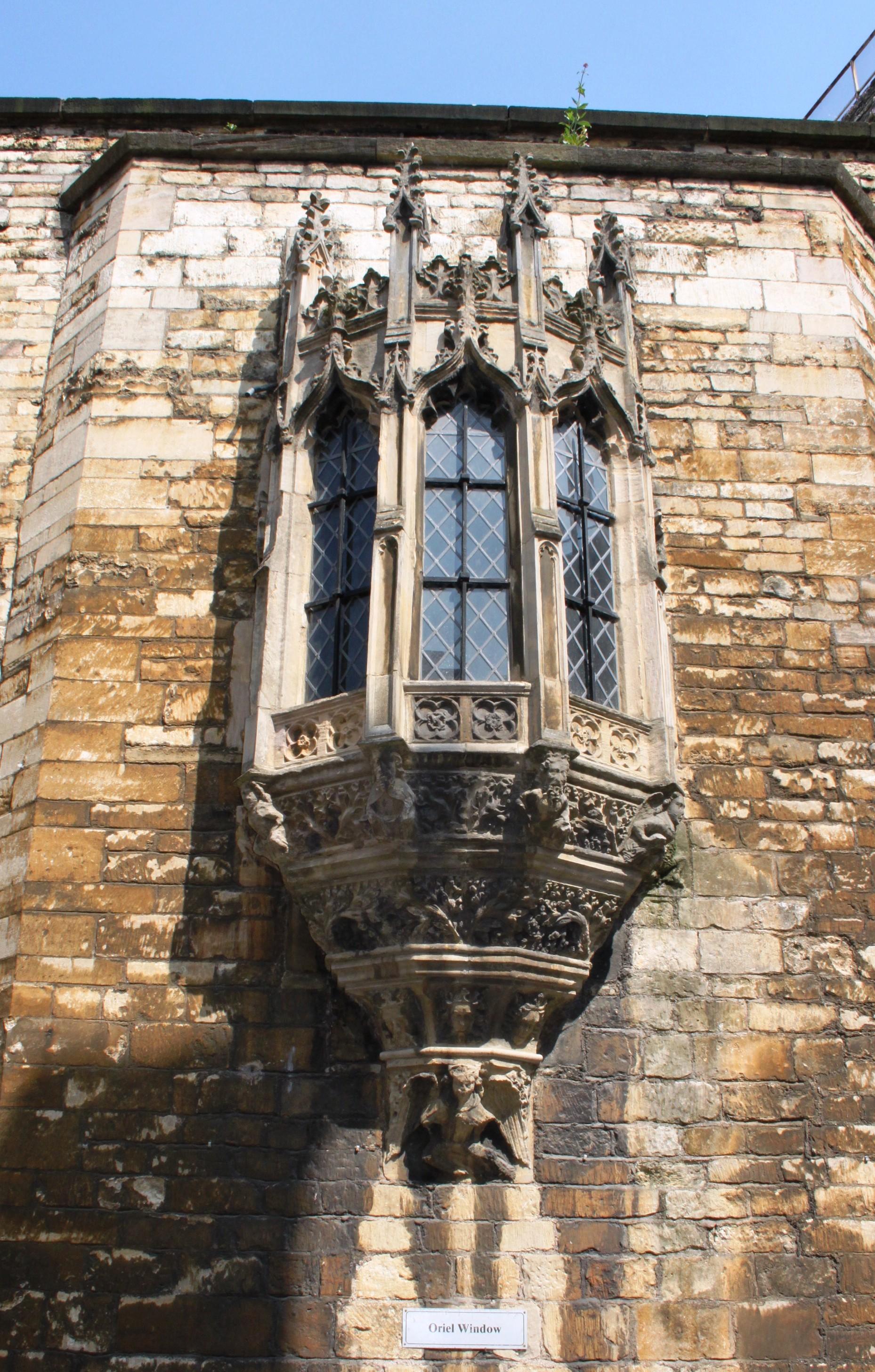 An oriel window