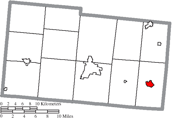 Mechanicsburg Ohio Map.File Map Of Champaign County Ohio Highlighting Mechanicsburg Village
