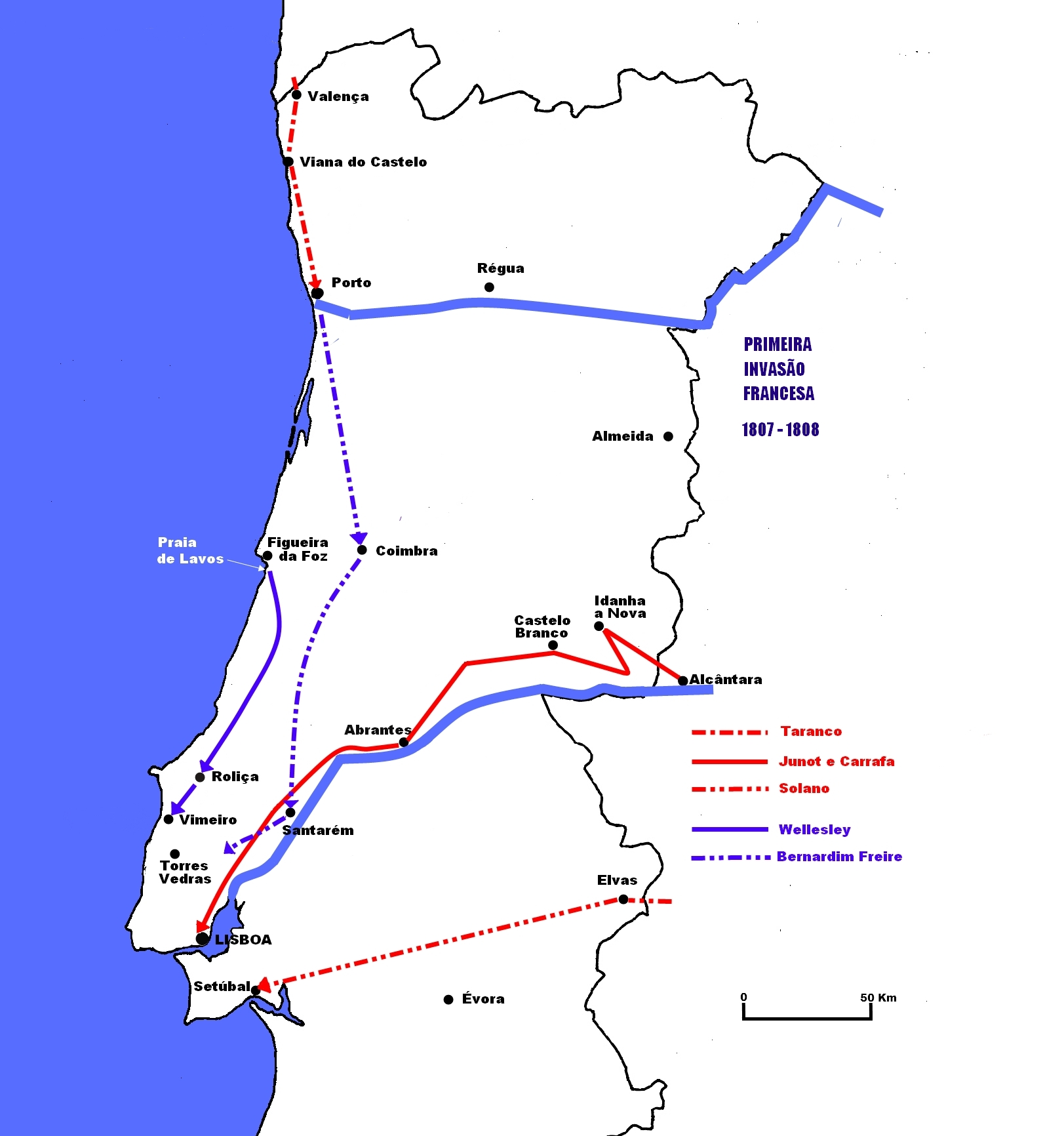 mapa de portugal itenerarios File:Mapa da 1ª invasão francesa.   Wikimedia Commons mapa de portugal itenerarios