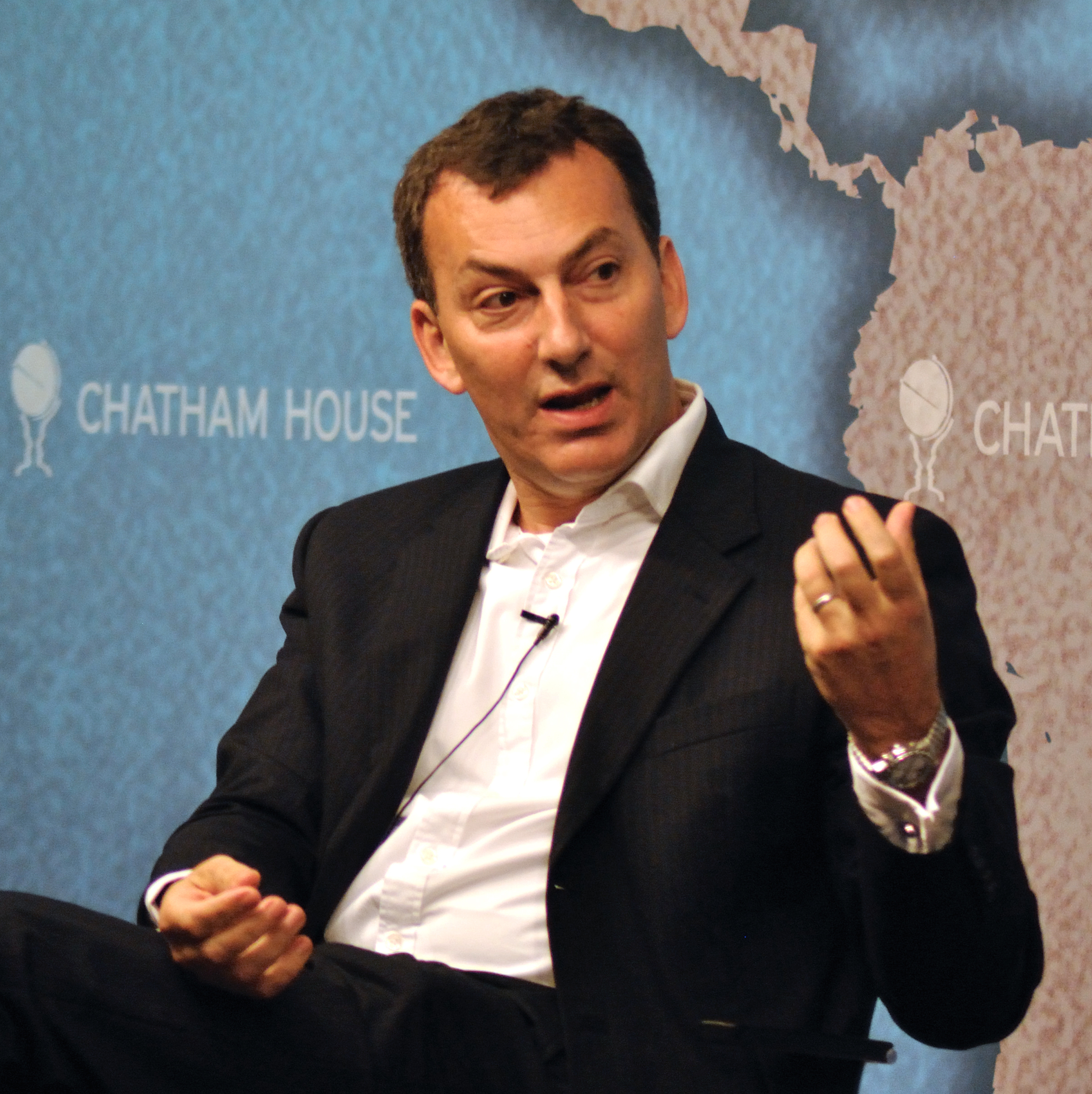 Mark Urban at [[Chatham House]] in 2011