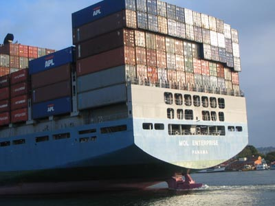 The MOL Enterprise container ship in 2004 - Mitsui O.S.K. Lines