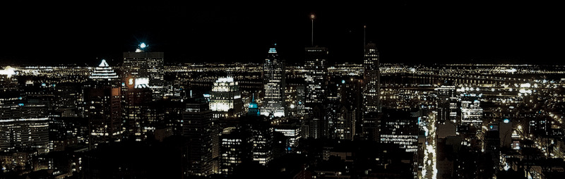 Downtown Montréal by night