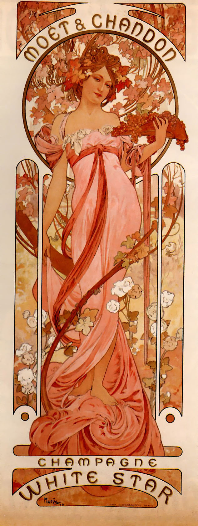 Artiste & œuvre d'art du jour Mucha-Mo%C3%ABt_&_Chandon_White_Star-1899