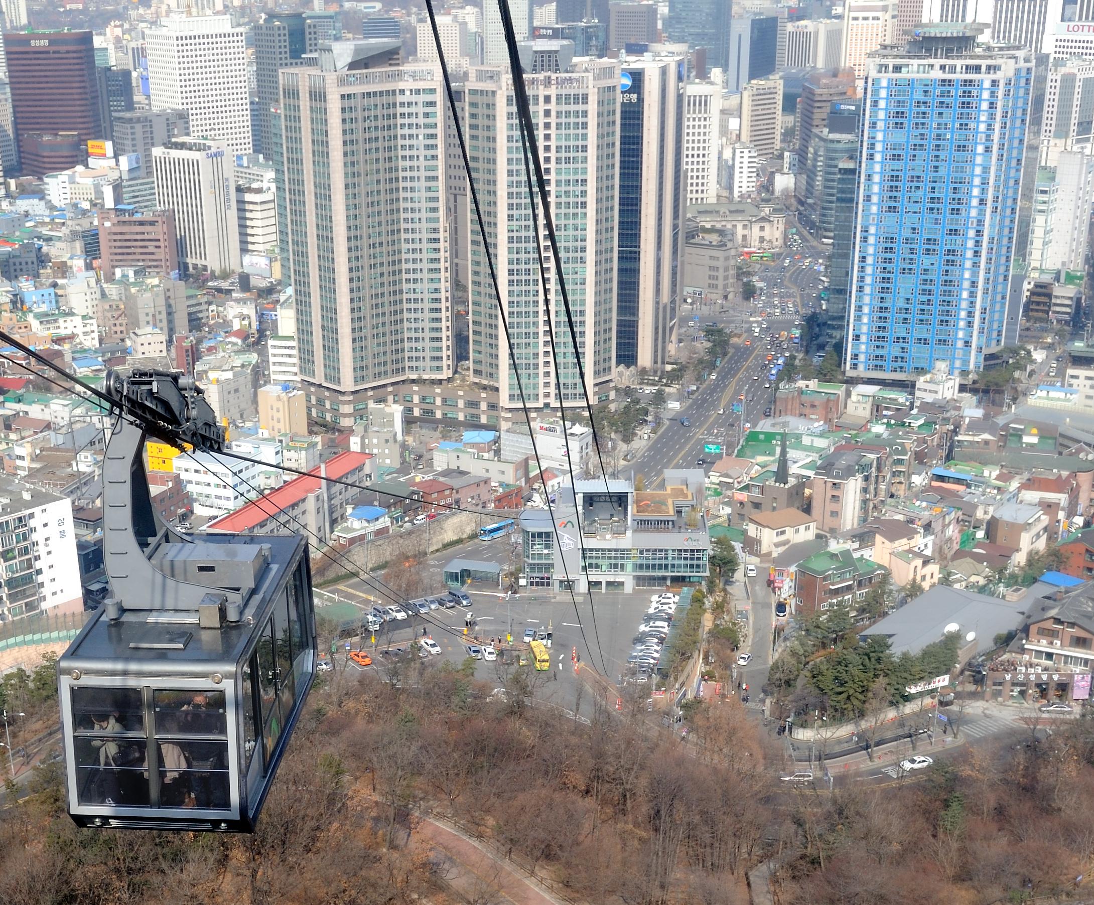 Namsan cable car - File Namsan Cable Car In Seoul Korea Png
