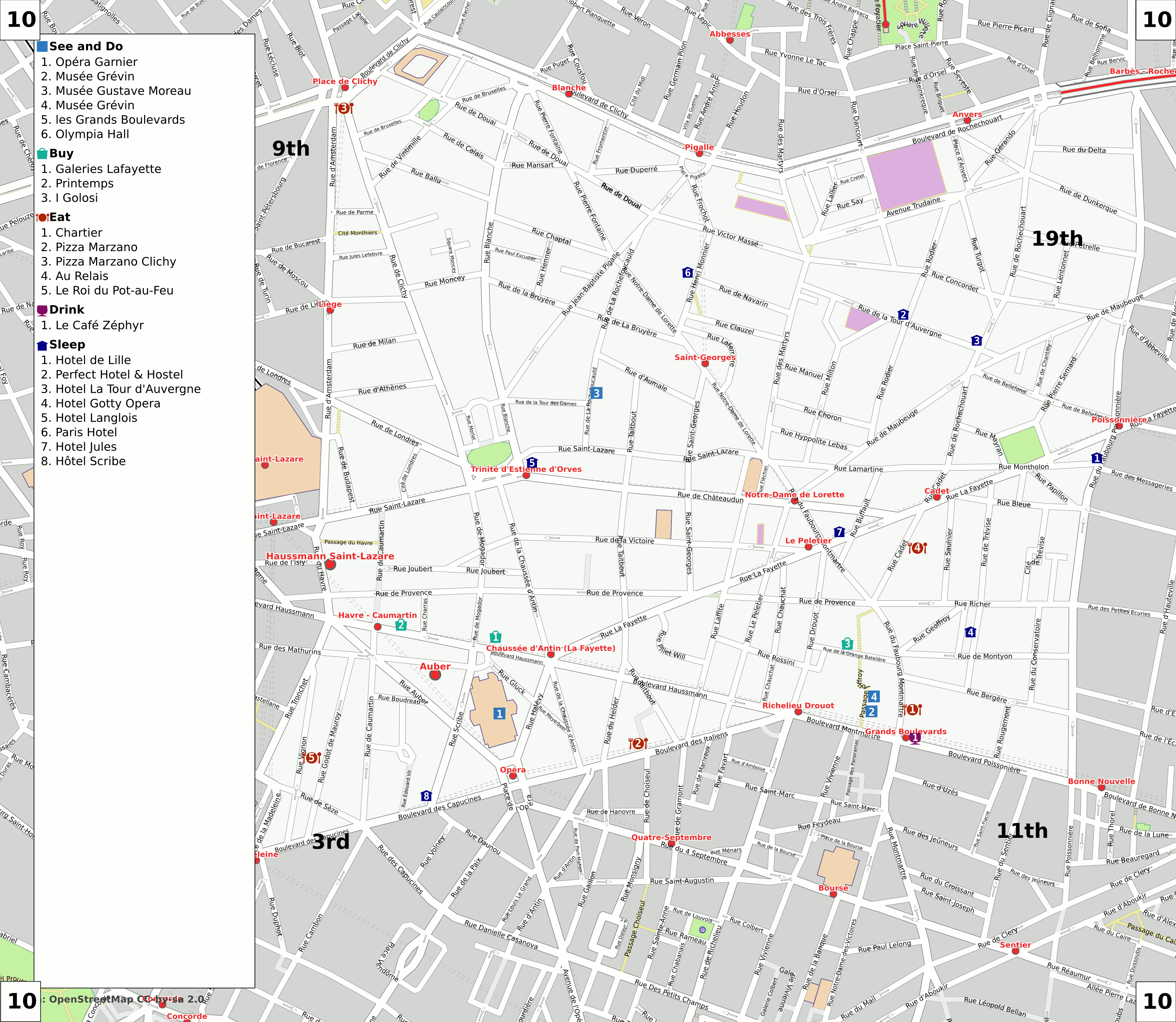 FileParis Th Arrondissement Map With Listings Png Wikimedia - Show map of paris arrondissements