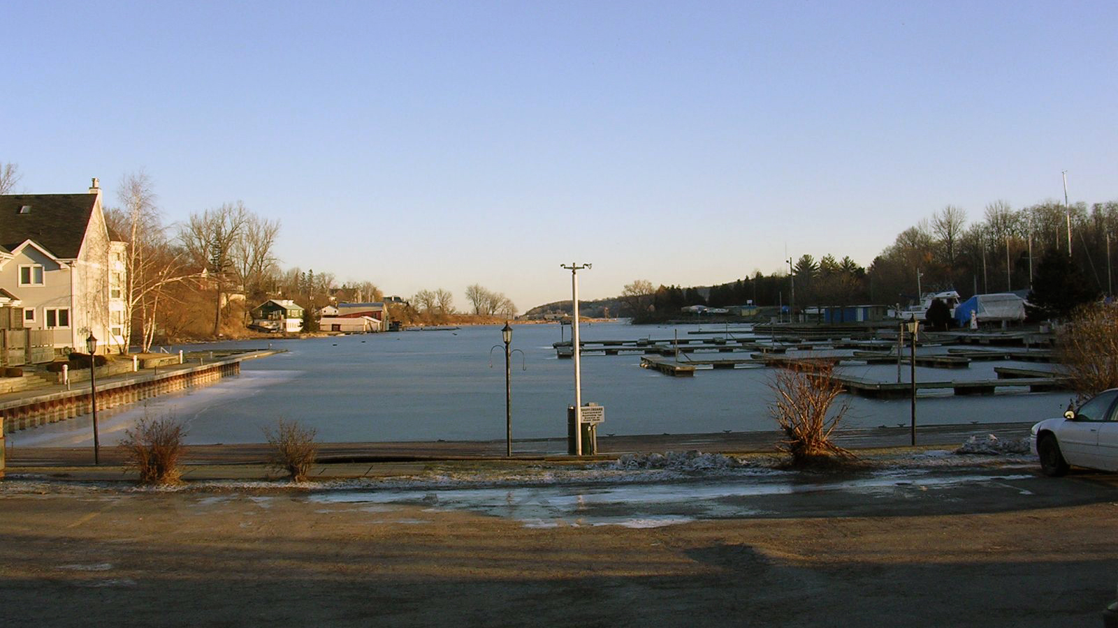 Picton Harbour in the winter