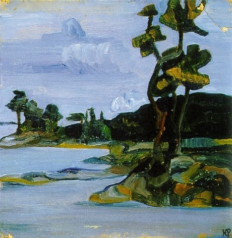«Сосны на берегу». 1917 Ю.Н.Рерих