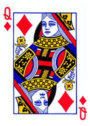 From en.wiktionary.org: Queen of diamonds ... the trigger {MID-70410}
