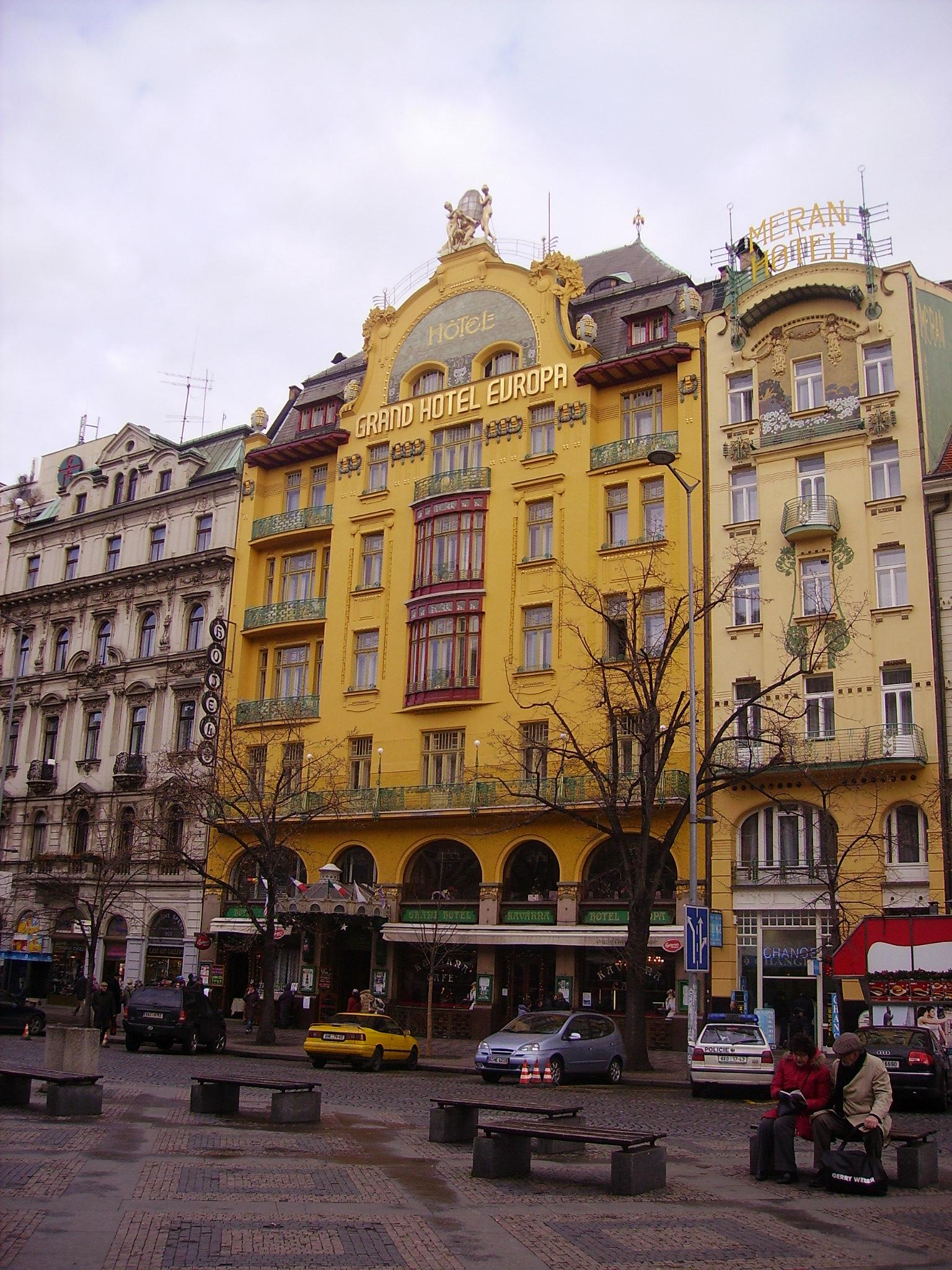 file prag wenzelsplatz grand europa hotel jpg wikimedia commons. Black Bedroom Furniture Sets. Home Design Ideas