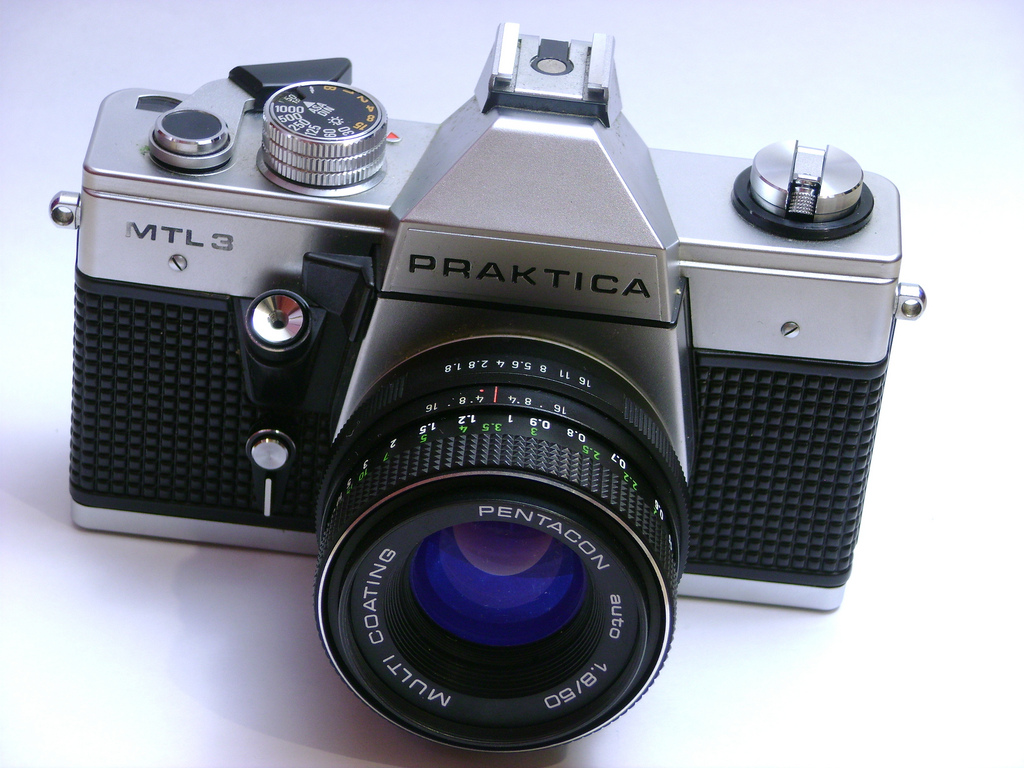 Pentacon praktica iv b m mit zeiss tessar classic cameras and