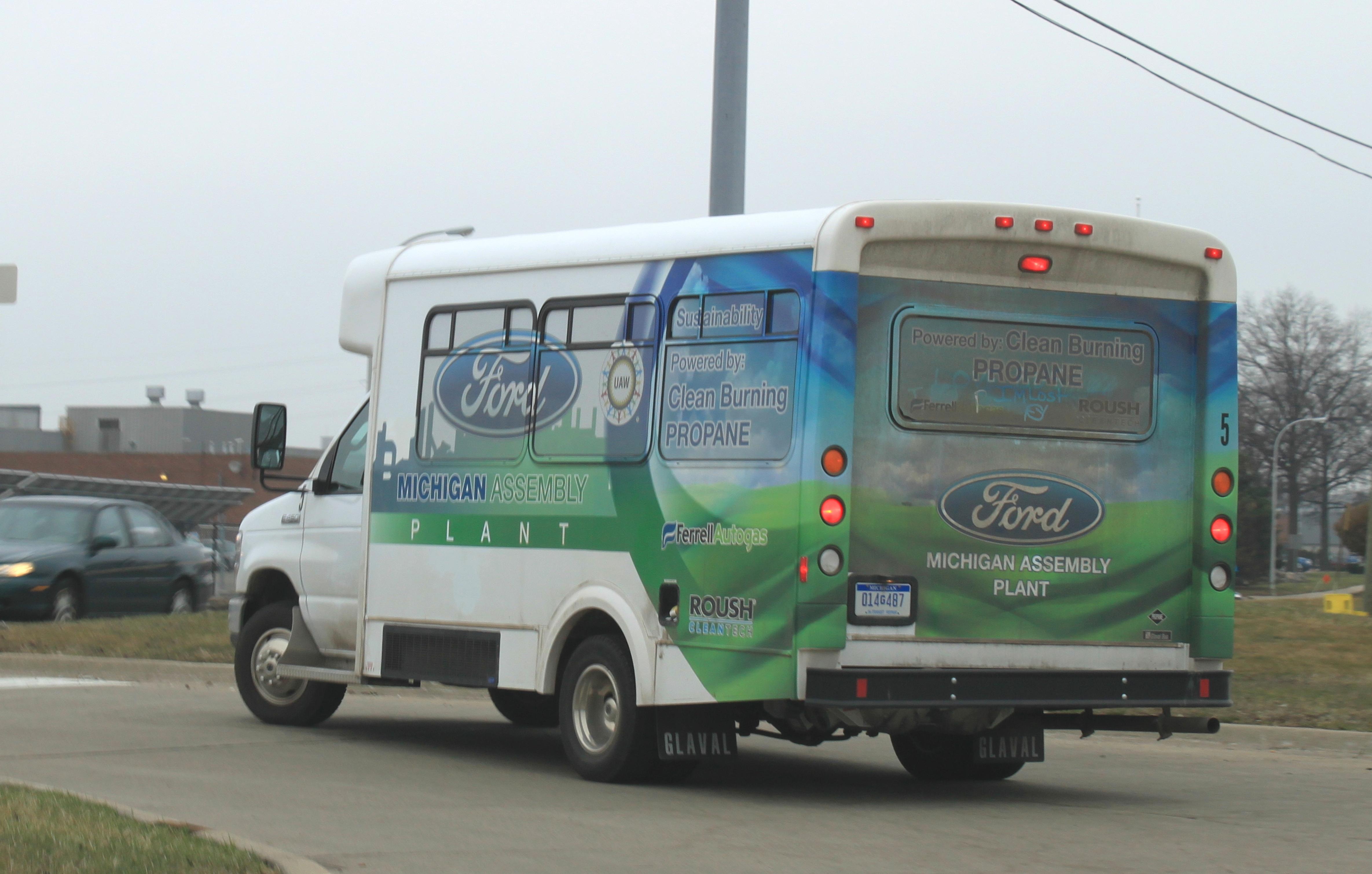 File propane powered ford van wayne michigan jpg for Ford motor company wayne mi
