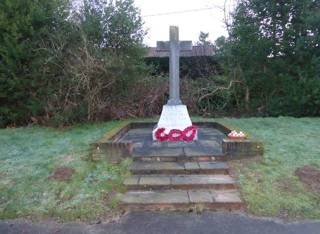Rake War Memorial- late January 2016 (geograph 4812556)