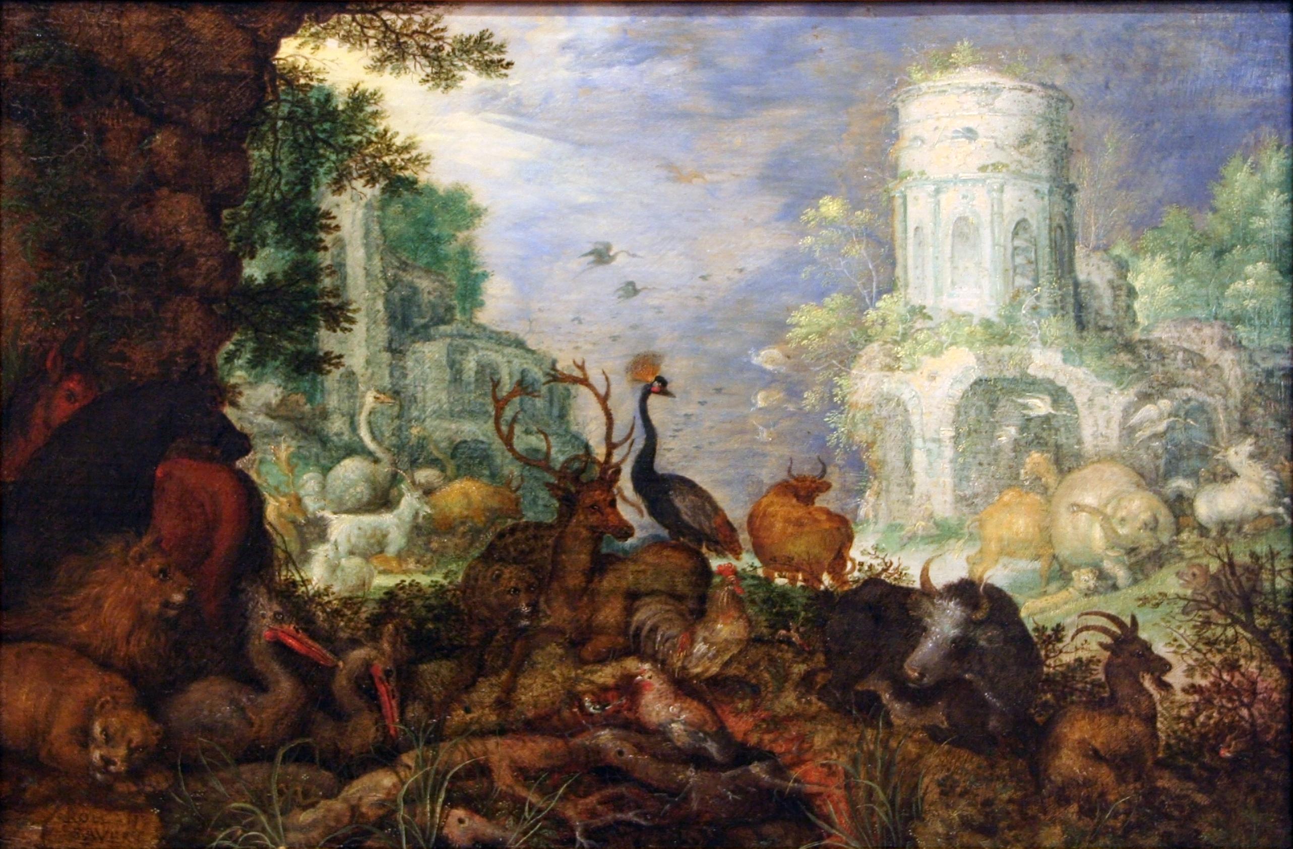 6 Panel Door History >> File:Roelant Savery - Orpheus overvallen door Maenaden.jpg - Wikimedia Commons