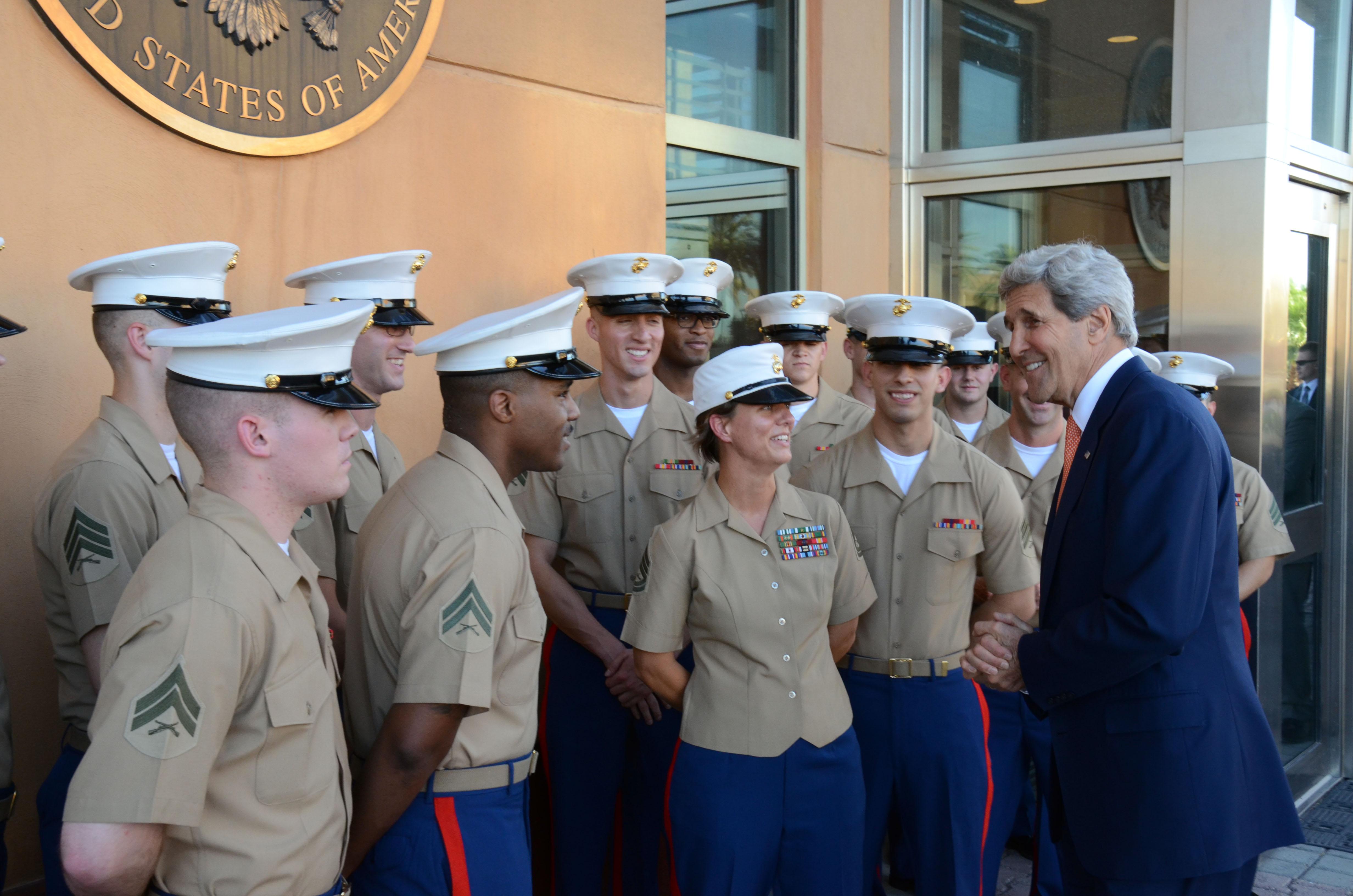 File:Secretary Kerry Thanks the Marine Security Guard Detachment ...